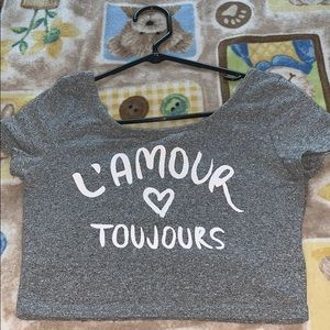 H&M L'amour Toujours Crop Top